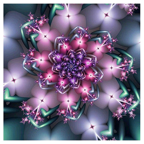 Abstract Flower 5D DIY Full Drill Diamond Painting