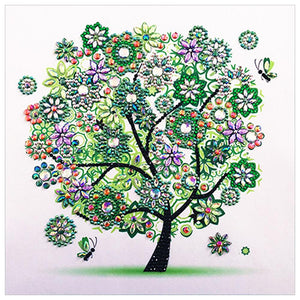 5D DIY Special-shaped Drill Diamond Painting Tree Spring Cross Stitch Kit