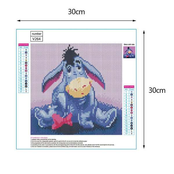 Eeyore 5D DIY Full Drill Round Drill Diamond Painting