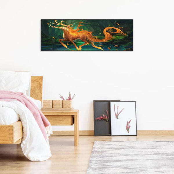 5D DIY Full Drill Diamond Painting Novelty Animal(80x30cm)