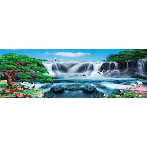5D DIY Full Drill Diamond Painting Waterfall View Cross Stitch Embroidery