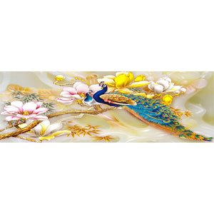 Yellow Peafowl 5D DIY Full Drill Round Drill Diamond Painting