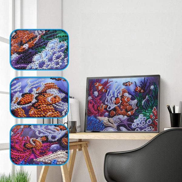5D DIY Special Shaped Diamond Painting Sea World Cross Stitch Embroidery