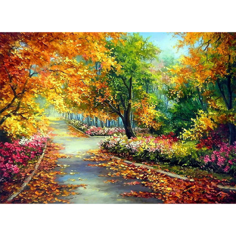 Autumn Leaves DIY Full Drill Round Drill Diamond Painting