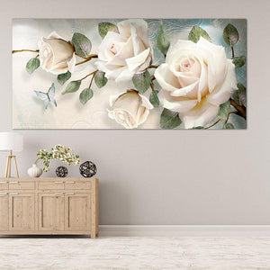 "Rose Flower 5D DIY Full Drill Diamond Painting(90*45cm/35.43*17.72"")"