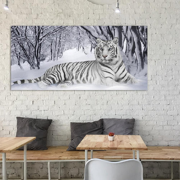 Tiger 5D DIY Full Drill Round Drill Diamond Painting(90x45cm)