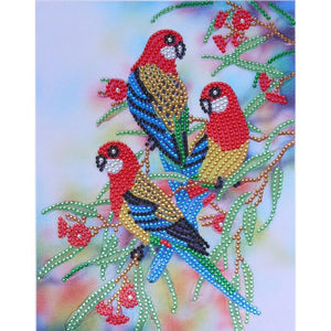 5D DIY Special Shaped Diamond Painting Parrot Cross Stitch Embroidery Kits