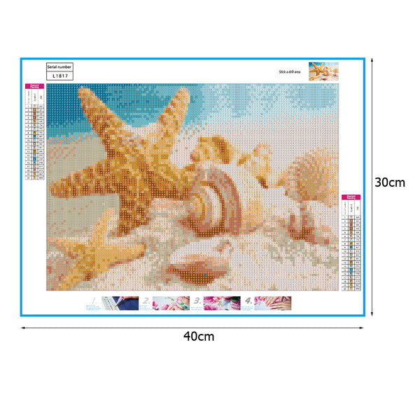 Starfish Conch DIY Full Drill Round Drill Diamond Painting
