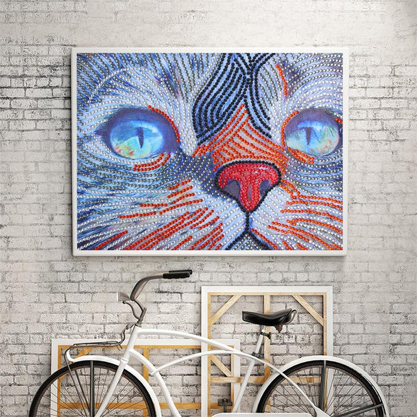 5D DIY Special Shaped Diamond Painting Cat Cross Stitch Embroidery Mosaic