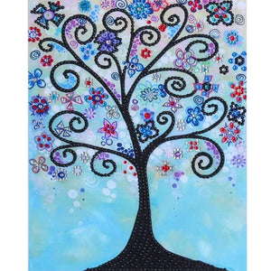 5D DIY Special Shaped Diamond Painting Novelty Tree Cross Stitch Embroidery