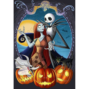 Jack Skellington and Sally DIY Full Drill Round Drill Diamond Painting