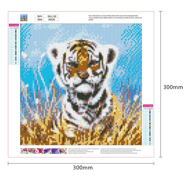 Small Tiger 5D DIY Full Drill Round Drill Diamond Painting