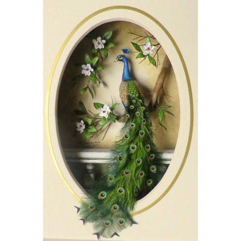 Peacock DIY Full Drill Round Drill Diamond Painting(60x40cm)