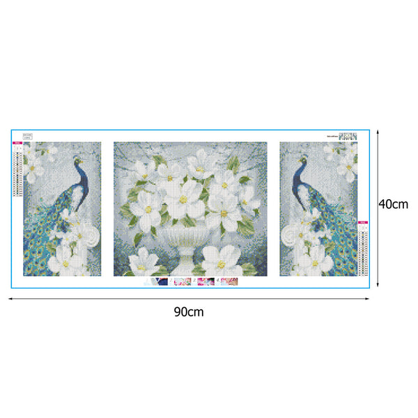3 pcs-in one Combination DIY Full Drill Round Drill Diamond Painting(90x40cm)