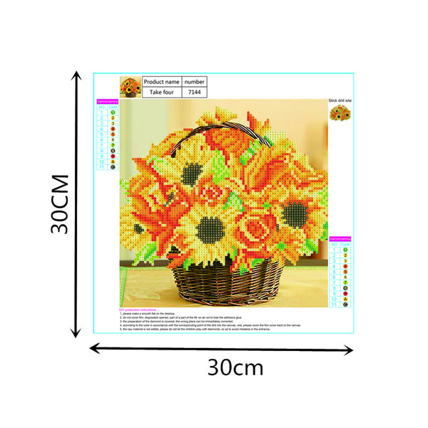 Sunflowers 5D DIY Partial Drill Round Drill Diamond Painting