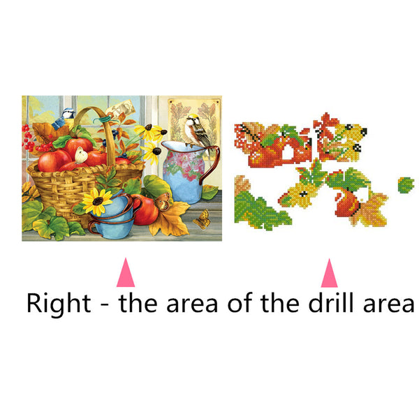 Fresh Fruits 5D DIY Partial Drill Round Drill Diamond Painting