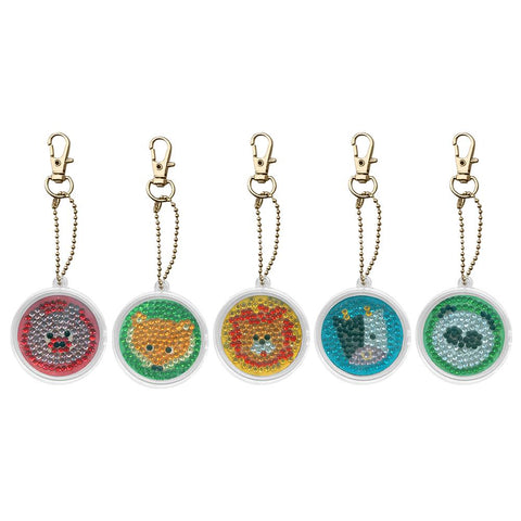5pcs DIY Cute Animals Full Drill Diamond Painting Keyring Craft Keychain