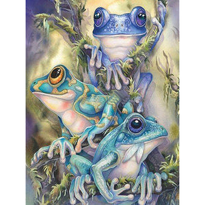 Frogs 5D DIY Full Drill Round Drill Diamond Painting