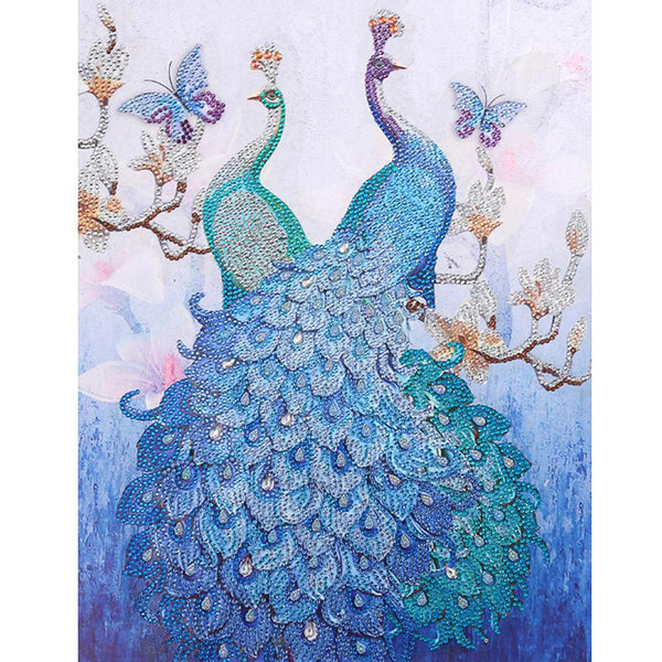 5D DIY Special Shaped Diamond Painting Peacock Cross Stitch Embroidery Kit