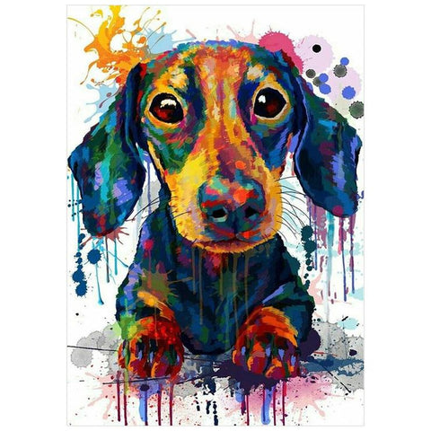Painted Dog DIY Full Drill Round Drill Diamond Painting