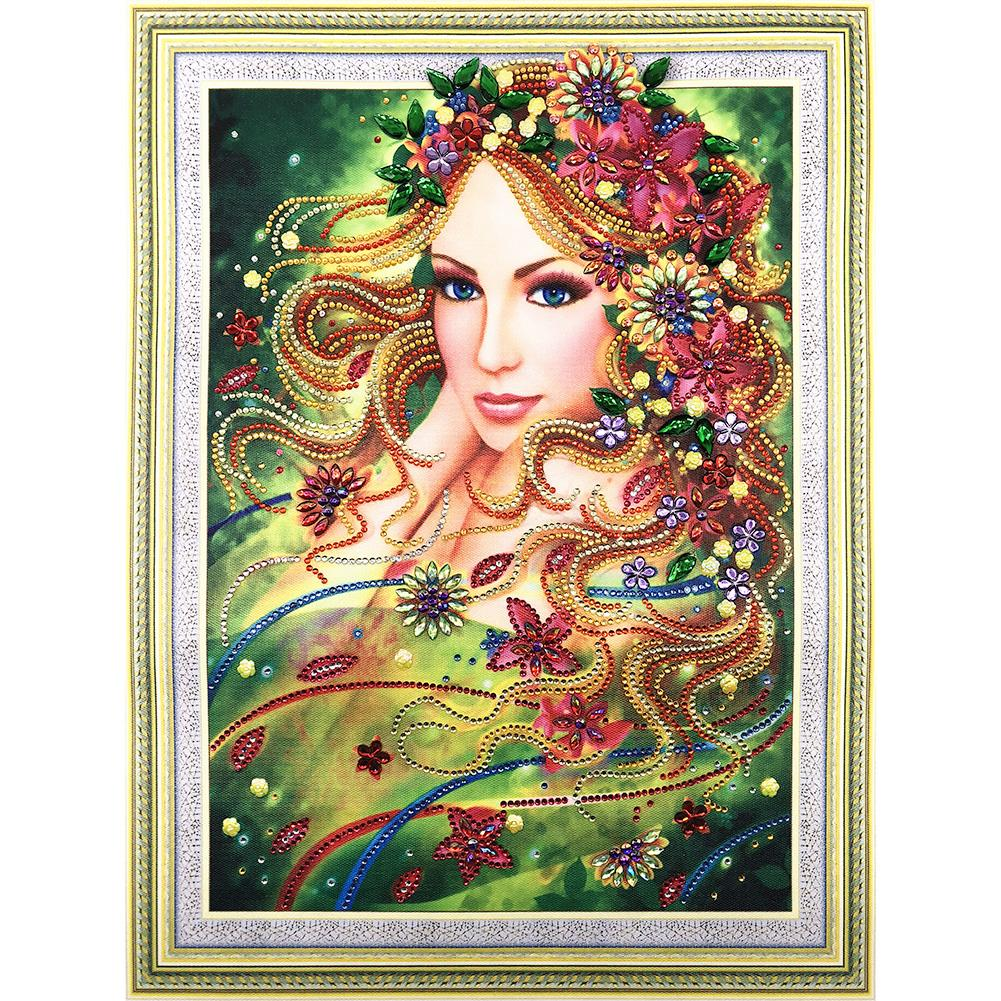 Beauty 5D DIY Special-shaped Drill Diamond Painting(50x40cm)