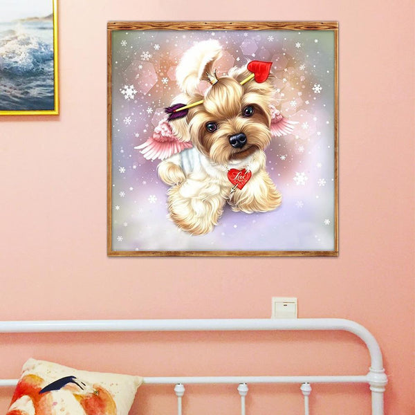 Dog Cupid 5D DIY Full Drill Round Drill Diamond Painting