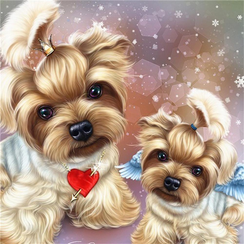 Cute Dog DIY Full Drill Round Drill Diamond Painting