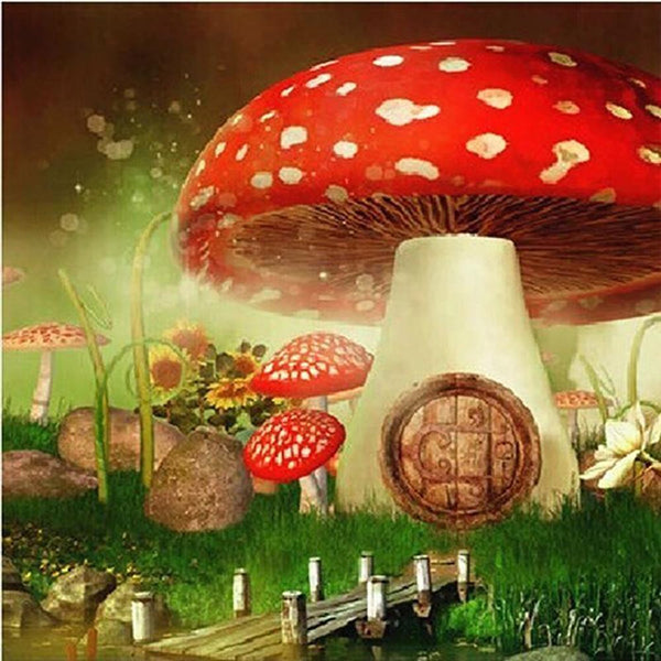 Mushroom 5D DIY Full Drill Round Drill Diamond Painting