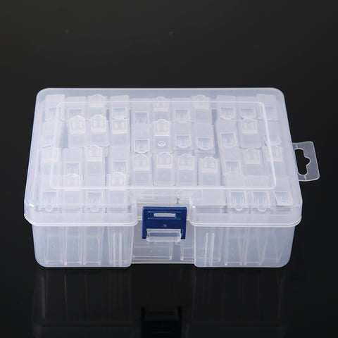 42 Slots Transparent Diamond Painting Beads Box Drill Box Container Storage Case