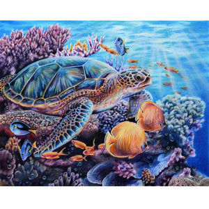 Turtle DIY Full Drill Round Drill Diamond Painting