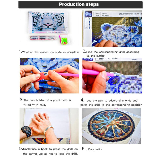 5 pcs-in one Combination 5D DIY Full Drill Diamond Painting Flowers(95x45cm)