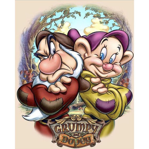 Dwarf Dopey and Grumpy DIY Full Drill Round Drill Diamond Painting