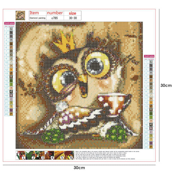 Owl 5D DIY Full Drill Round Drill Diamond Painting
