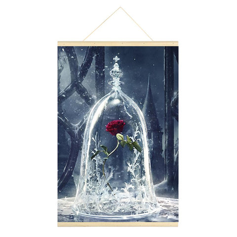 Rose 5D DIY Full Round Drill Hanging Diamond Painting with Frame