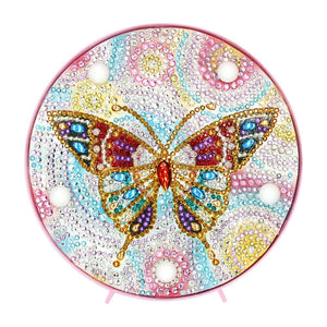 DIY Full Drill Diamond Painting Butterfly LED Night Lamp Home Decor