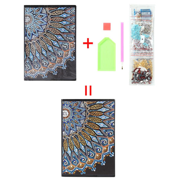 DIY Mandala Special Shaped Diamond Painting 60 Sheets Students A5 Notebook