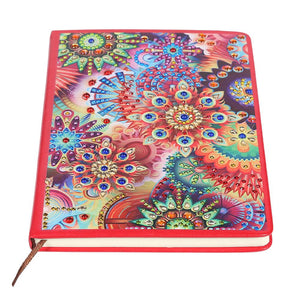 DIY Colorful Special Shaped Diamond Painting 100 Pages Notebook Sketchbook