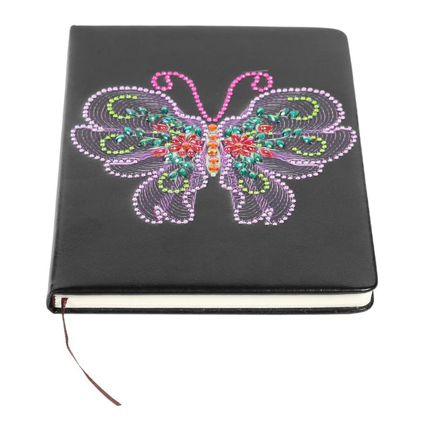 DIY Butterfly Special Shaped Diamond Painting 100 Pages Notebook Sketchbook
