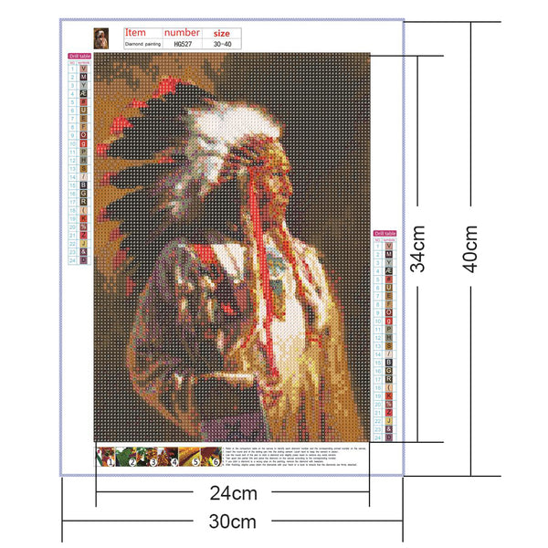 Indian 5D DIY Full Drill Round Drill Diamond Painting