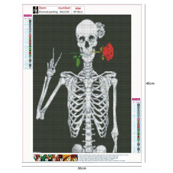 Skeleton 5D DIY Full Drill Round Drill Diamond Painting