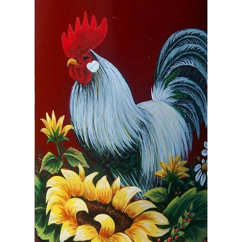 Rooster 5D DIY Full Drill Round Drill Diamond Painting