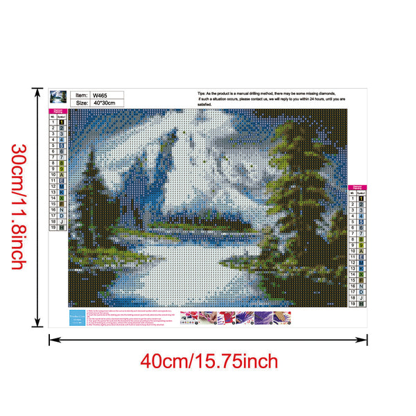 Snow Mountain Scenery 5D DIY Full Drill Round Drill Diamond Painting