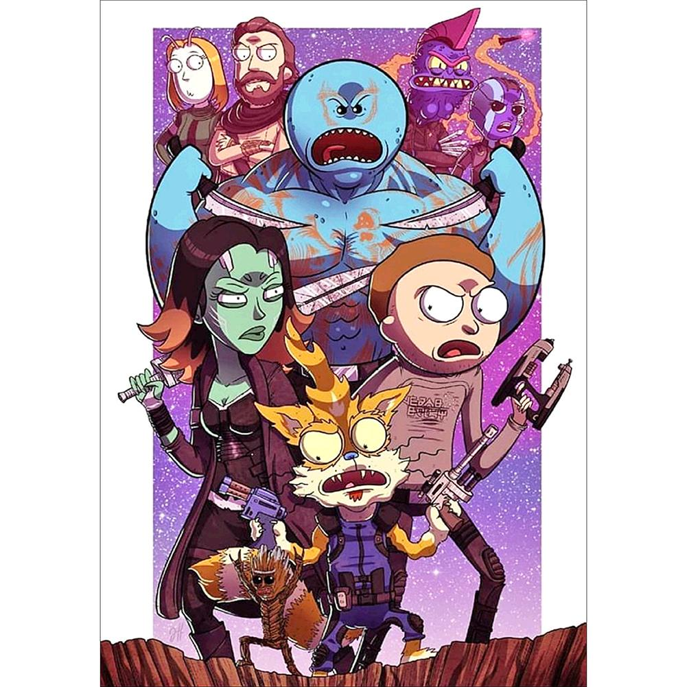 Rick and Morty 5D DIY Full Round Drill Diamond Painting