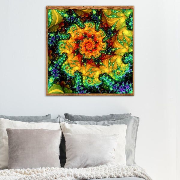 Abstract Flower 5D DIY Full Drill Round Drill Diamond Painting