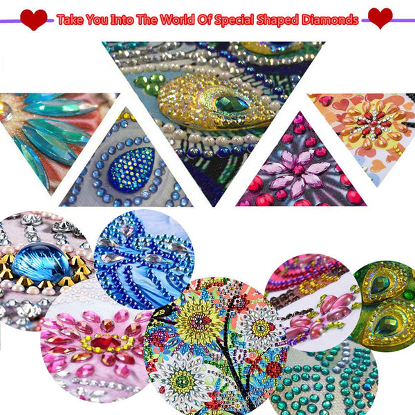 5D DIY Crystal Rhinestones Partial Drill Diamond Painting Bird Craft
