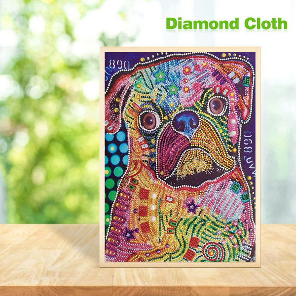 5D DIY Crystal Rhinestones Partial Drill Diamond Painting Dog Kit