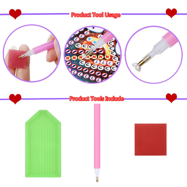 Love Heart 5D DIY Partial Drill Round Drill Diamond Painting