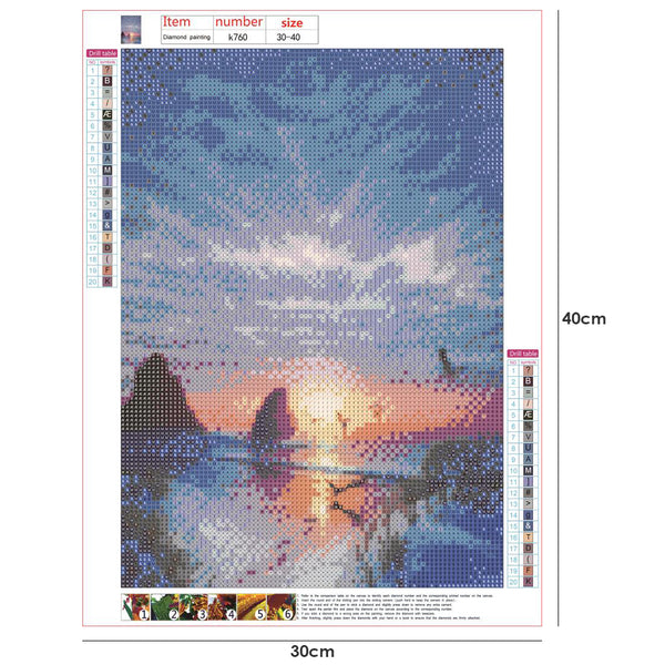 Beautiful Sky 5D DIY Full Drill Round Drill Diamond Painting