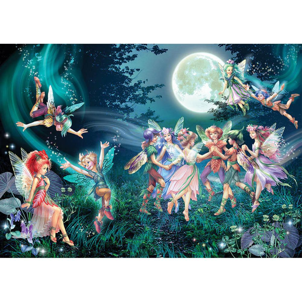 Moon Night Fairy Party 5D DIY Full Drill Round Drill Diamond Painting
