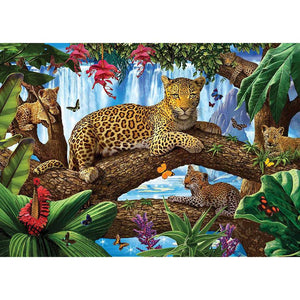 Leopard 5D DIY Full Drill Round Drill Diamond Painting